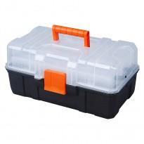 """Εργαλειοθήκη Tactix 16"""" με πλαστικό καπάκι και αναδιπλούμενες θήκες"""
