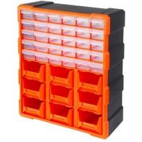 Συρταριέρα Tactix με 30 πλαστικά συρτάρια διάφανα και 9 σκαφάκια