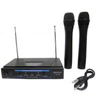 Σετ 2 ασύρματα μικρόφωνα & receiver