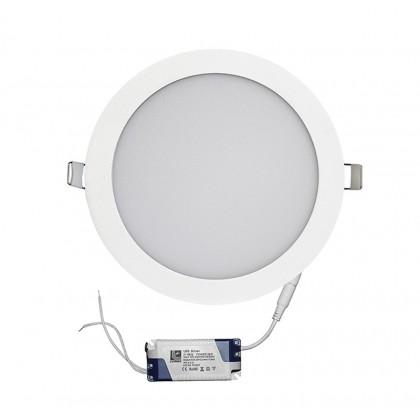 Φωτιστικό ψευδοροφής αλουμ. στρογ. λεπτό LED 18W λευκό