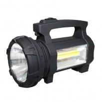 Φακός LED επαναφορτιζόμενος 3W+COB LED στο πλάι