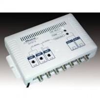 Ενισχυτής κεντρικής κεραίας με εισόδους VHF και 2 UHF καθώς και με δύο εξόδους