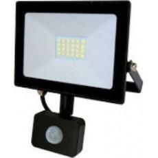 Προβολέας LED 20W 220-240VAC με αισθητήρα 1600LM