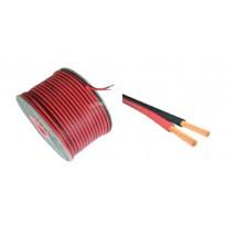 Καλώδιο ηχείων Μαύρο-Κόκκινο 2x1,00 CCA (economy series)