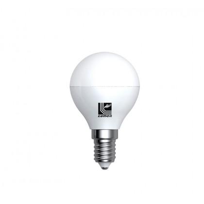 Λάμπα LED σφαιρική Ε14 5 Watt Θερμό ΜΑΤ ECOLED