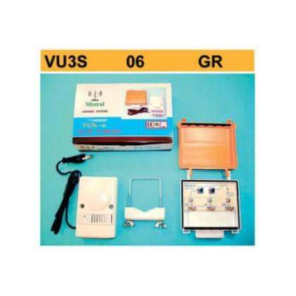 Μεγάλος Ενισχυτής Κεραίας Πλακέτας VHF UHF VU3S 06 GR