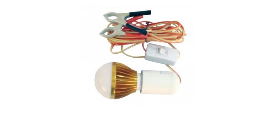 Λάμπες LED με κροκοδειλάκια